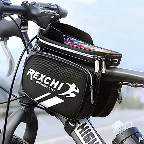 YZX Bolsa Bici, montaña/Bicicleta de Carretera a Caballo Top Tubo de sillín Bolsa, Aire Libre Impermeable de la Pantalla táctil del teléfono móvil sombreado Frente de la Bicicleta Bolsa de Haz