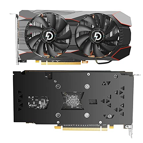AMD RX580 8GB tarjetas gráficas, 256Bit 2304SP GDDR5 1340/7000Mhz tarjetas de vídeo, RX 580 GPU Desktop Computer Game Videocard adecuado para BTC/ETH Mining (RX580 8G)