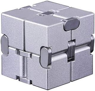 YXHUI Cubo de Rubik Infinito, descompresión Creativa de la aleación, Educativo, artefacto de descompresión, Cuadrado inalámbrico Good Mood, Good Life ( Color : Silver )
