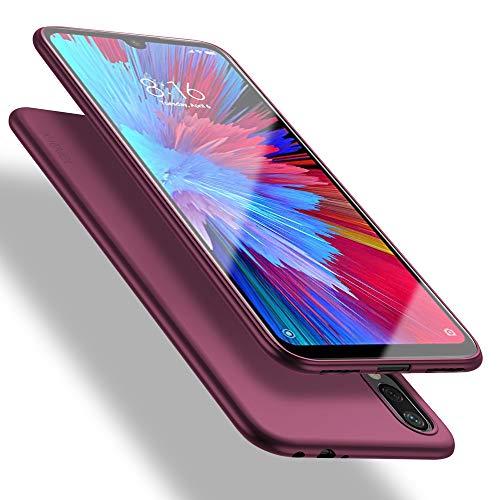 X-level Funda para Xiaomi Redmi Note 7, Carcasa para Xiaomi Redmi Note 7 Suave TPU Gel Silicona Ultra Fina Anti-Arañazos y Protección a Bordes Funda Phone Case para Xiaomi Redmi Note 7-Vino Rojo