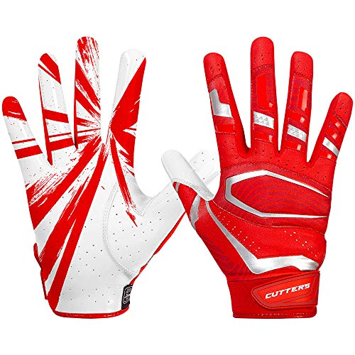 Cutters American Football Receiver Gloves S452 Rev Pro 3.0 Design 2018 - rot Gr. M
