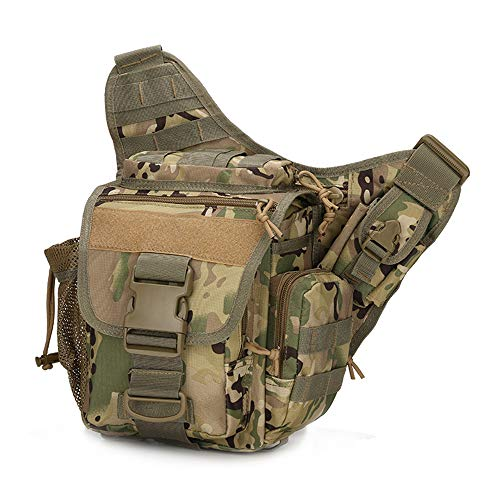 paomo Chest Pack Shoulder Bags Belt Bag Unilateral Tactics Satchel Tourism Below 20L A03 800D Waterproof Oxford Shoulder Backpack
