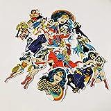 Baimeng - Adesivo decorativo per casco da auto, motivo: Wonder Woman Justice League, per bagagli, skateboard, casco, auto, 20 pezzi