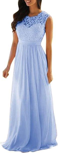 Minetom Spitze Plissee Ruckenfreies Armellos Elegant Maxikleid Abendkleid Ballkleid Cocktailkleid Partykleid Formal Langes Kleid Amazon De Bekleidung