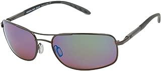 Costa Del Mar Sunglasses - Seven Mile- Glass / Frame: Satin Gunmetal Lens: Polarized Green Mirror Wave 580 Glass-SE22GMG580