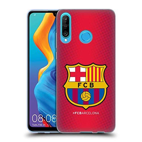Head Case Designs Offizielle FC Barcelona Halbton Wappen Soft Gel Huelle kompatibel mit Huawei P30 Lite/Nova 4e