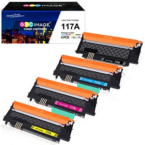 GPC Image 117A Kompatibel Toner Patronen Ersatz für HP 117A für HP Color Laser 150a 150nw 150w MFP 178nw 178nwg MFP 179fnw 179fwg Druckerpatronen (W2070A W2071A W2072A W2073A)