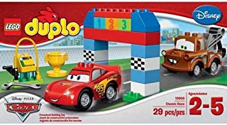 Lego Duplo Cars Disney Pixar Cars Classic Race-big Colorful Building Bricks and Blocks Sets Collectible Toys for Boys From 2-5 Years-includes Lightning Mcqueen and Mater Lego Duplo Figures- Imported From Usa.