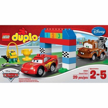 Lego Duplo Cars Disney Pixar Cars Classic Race-big Colorful Building Bricks and Blocks Sets Collectible Toys for Boys From 2-5 Years-includes Lightning Mcqueen and Mater Lego Duplo Figures- Imported From Usa. by LEGO