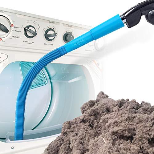 Holikme Dryer Vent Cleaner Kit Vacuum Hose Attachment Brush Lint Remover Dryer Vent Vacuum Hose Blue