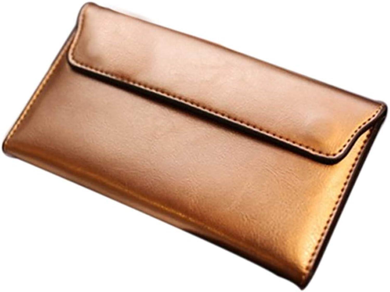 WAAXfrauen Lange Business Brieftasche,Goldene B07NVM51D5