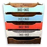 DoxBox   Handgefertigtes Hundebett   Aus receyceltem Mahagoni-Massivholz   Mit kuschelig, weicher Schaumstoffmatratze zum Wohlfühlen   Verschiedene Farben & Größen (120 x 85 cm, shabby...