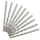 Brocas de longitud larga, 2 mm 2,5 mm, 2,8 mm 10 cajas Broca trenzada Carpintería profesional para metal para acrílico para taladrar madera((2.5 high speed steel 10 pcs/box 4241))