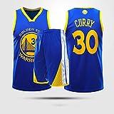 Trajes De Baloncesto Adultos para Niños Golden State Warriors # 30 Stephen Curry Chalecos Y Pantalones Cortos Trajes Fitness Sportswear Sin Mangas Deportes Tops Camisetas