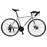 TYSYA 30-Speed Road Bike Outdoor Cycling 700C City Bicycles Double Disc Brake Lightweight
