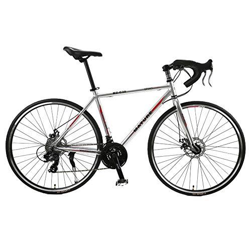 TYSYA Vélo De Route 30 Vitesses Cyclisme en Plein Air 700C Vélos De Ville Frein À Disque Double Cadre en Alliage D'aluminium Léger Courses De Vélos Adultes,B