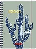"""BRUNNEN 1072150021 """"#Harmony Cactus"""", Wochenkalender/Schülerkalender 2020/2021, 2 Seiten = 1 Woche , Blattgröße 14,8 x 21 cm , A5 , PP-Einband"""