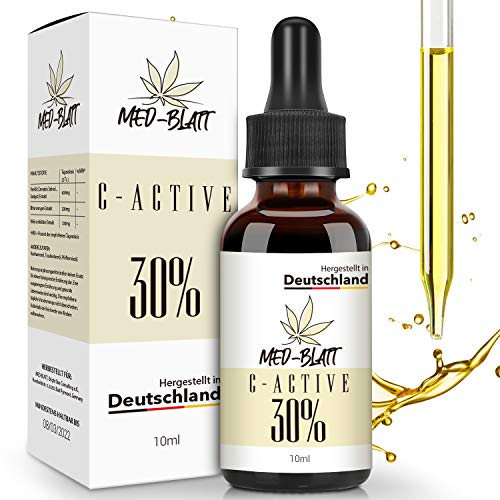 Natur-Öl mit Natürlichen Zutaten, Reich an Fettsäuren, Vitaminen und Mineralien, 100% Vegan 10ML 30 Prozent, Hergestellt in DEUTSCHLAND