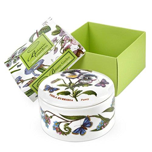 Portmeirion Home & Gifts BG76041-X - Scatola porta oggetti rotonda, in porcellana, multicolore, 9,5 x 9,5 x 4,5 cm