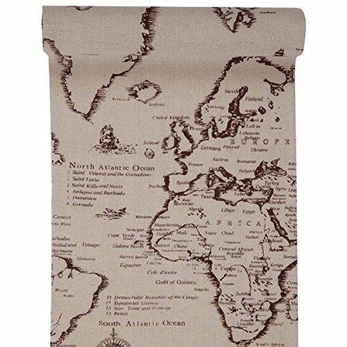 Santex NEU Tischläufer, Weltkarte, 300 x 29 cm
