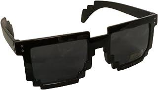 Black 80`s 8-Bit Pixelated Videogame Pixels Sunglasses Costume Accessory