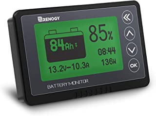 Renogy 500A Battery Monitor, High and Low Voltage Programmable Alarm, Voltage Range 10V-120V and up to 500A, Compatible wi...