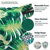 Gefülltes Kissen Blau Grau Geometrisches Design Wasserdicht Für Draußen Gartenmöbel - 5