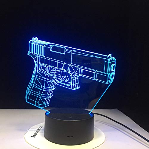 Lámpara de mesa 3D Illusion USB Child Christmas Kids Gift FPS Game Mesa de escritorio