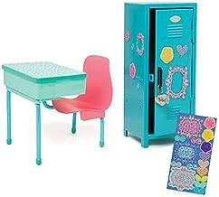 Maplelea School Desk and Locker Set for 18