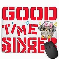 【2021新款】マウスパッドgood Time Singer Owl マウスパッドゲーミングマウスパッド大型ゲーミング滑り止めハイエンド流行のファッション防水耐久性滑り止めラバーボトム 25*30cm