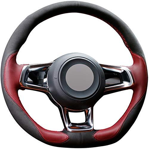 ZYTB Für rotelenkradabdeckung für Volkswagen Golf 7 GTI Golf r mk7 vw Polo GTI Scirocco 2015 2016,Moonlight White Thread