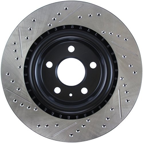StopTech 127.33137L Sport Drilled/Slotted Brake Rotor (Rear Left), 1 Pack