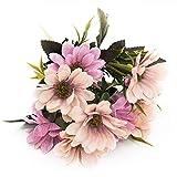 Joylive 6ramas 10cabeza ramo de flores artificiales flores de seda flores primavera Daisy Flower