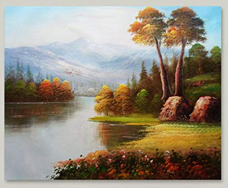 Agolong DIY Malen Nach Zahlen Landschaft Wald Wald Wald Sun Blaumen Und Pflanzen Regentau Herbst Blätter Home Decoration Malerei Mit Rahmen 40x50cm B07M6HQ2PZ | Exquisite (in) Verarbeitung  f1968e