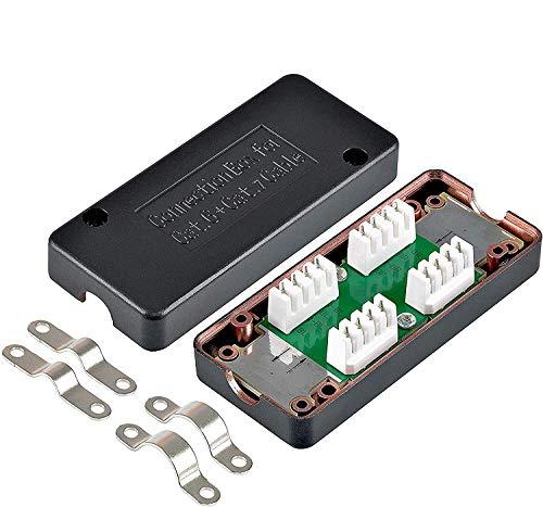 VESVITO 4X LSA Verbindungsmodul CAT 7 CAT 6A kompatibel mit CAT 7A CAT 6 Kabel, Verbinder zum Reparieren, Verlängern von Netzwerkkabel Verlegekabel Installationskabel Datenkabel LAN Ethernetkabel