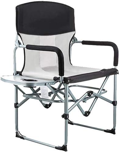 Chaise De Camping Pliante Extérieure Main Courante Ergonomique Table De Coupe Support en Acier Voyage en Marchant Alpinisme Tissu Oxford Chaise De Plage