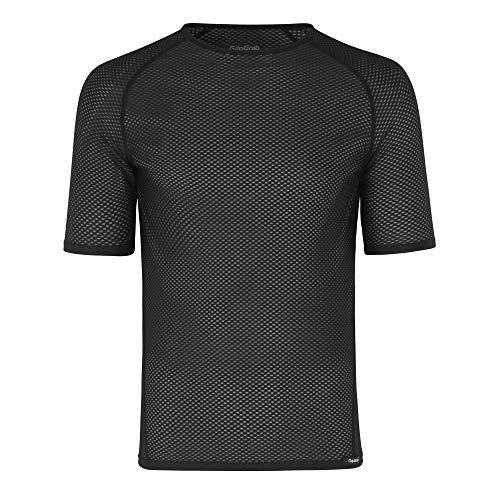 GripGrab Unisex– Erwachsene Ultralight Kurzarm Cool Mesh Fahrrad Funktionsunterhemd Anti Geruch Sommer Radsport Funktionsshirt Base Layer Unterhemd, Schwarz, XL