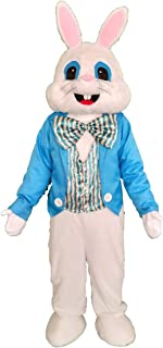 Blue Easter Rabbit Mascot Costume Adult Easter Fancy Cosplay Costume