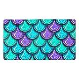 nakw88 Colorido brillante río pescado escamas baño antideslizante Mat 15.7x27.9 en piso tina esteras suave bañera Mat