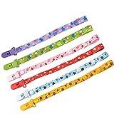 Schnullerband Baby, ViVidLife 6er Schnullerketten mit Clips Nuckelketten Junge Mädchen für Schnur Lätzchen Dreieckstuch Schnuller