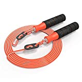 Lordz Adjustable Skipping Rope Tangle-Free with Ball Bearings Rapid Speed Jump Rope Cable and Memory Foam Handles Ideal for Aerobic Exercise Like Speed Training, Endurance Training and Fitness Gym