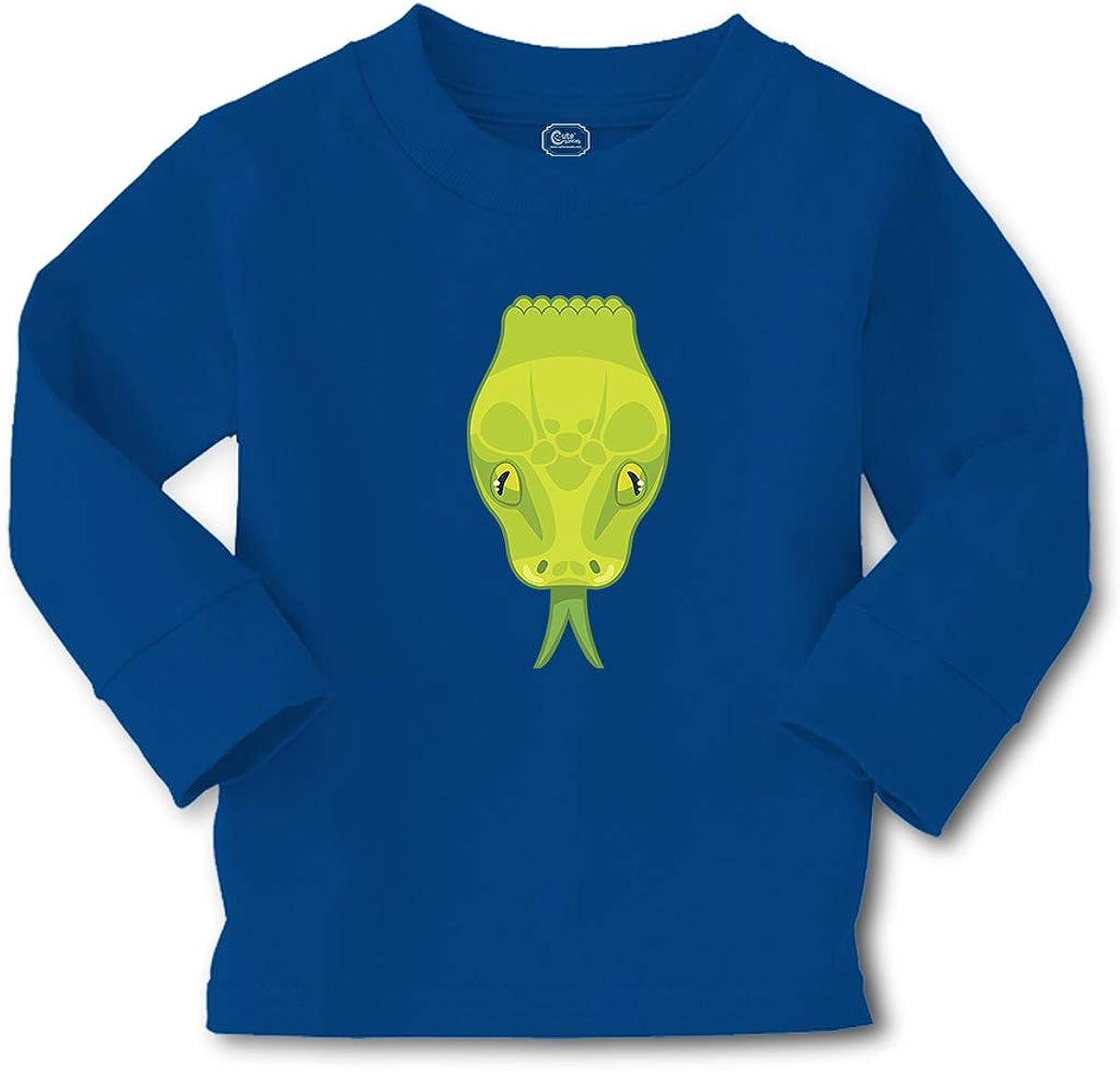 Kids Long Sleeve T Shirt Snake Head Animals Funny Cotton Boy & Girl Clothes