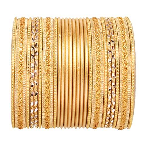 Touchstone 2 Dutzend Armreifsammlungslegierungsmetallstrukturierte spezielle Armreifarmbänder des Entwerferschmucks für Damen 2.75 Set 2 groß Gold
