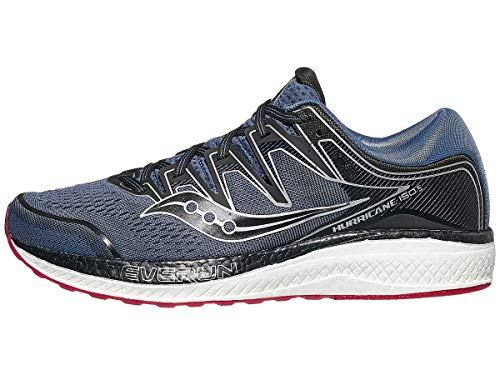 Saucony Men's Hurricane ISO 5 Running Shoe, Grey/Black, 10 W US