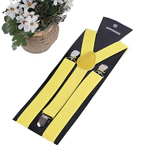 Huilongxin Elastic Y-Form Hosenträger der Frauen Männer Mädchen Einstellbare Clip-on Strapse Straps