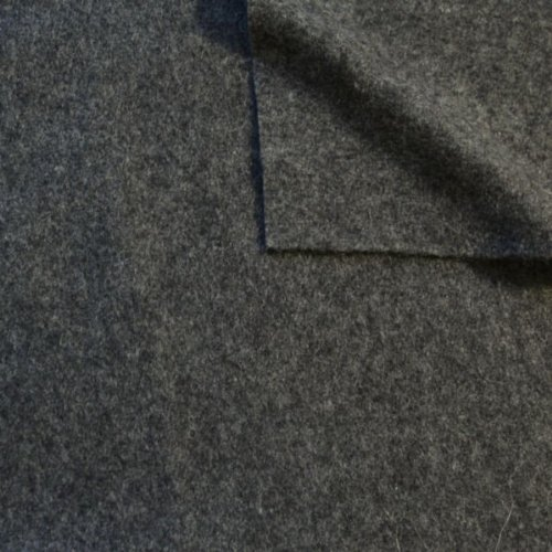 STOFFKONTOR Wollfilz Wollstoff Meterware Mittel-Grau meliert