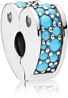 Pandora 797227NYA Sterling Silver Clips Charm for Women - Multi Color