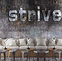 Djskhf カスタム3D壁画工業風3Dヨーロッパスタイルセメント壁紙レストランカフェティーショップリビングルーム寝室壁紙壁画 280X200Cm