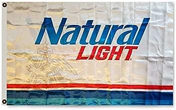 Flylong Natural Light Beer Flag Banner Bar Man Cave Garage Decor 3x5Feet