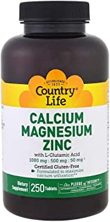Country Life Calcium Magnesium Zinc - 250 Tablets